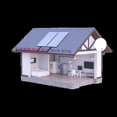Солнечная электростанция для дома А-1200-С