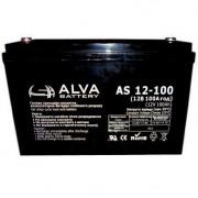 Гелевый аккумулятор ALVA AS12-100 Solar GEL 12В/100Ач